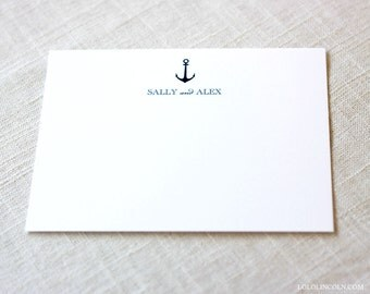 Anchor Thank You Notes Set of 25 Cards