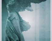 Winged Victory Of Samothrace Statue at the Louvre Museum, Paris 8 x 10 Fine Art Print, Paris France, Romantic Statue