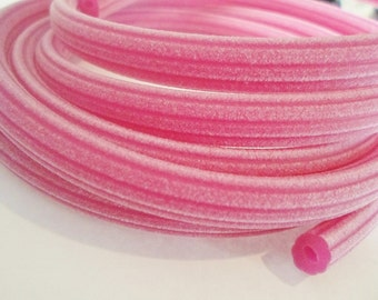 SALE: 2 Meters Fuchsia Corduroy Rubber Licorice Cord with Hole,