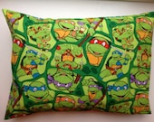 Travel / Child Pillow Case /  Standard Pillow Case / Teenage Mutant Ninja Turtles / Heroes in a Half Shell