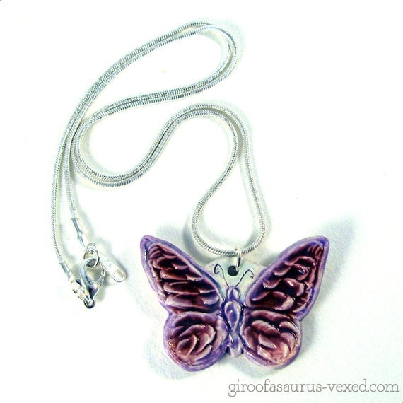 Butterfly necklace from The Vexed Muddler on Etsy