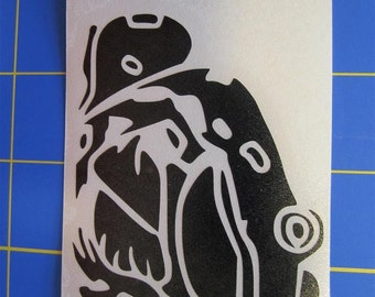 Bullfrog Decal - Sticker 2.5x3 Any Color