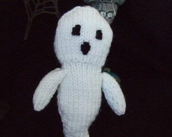 knitted ghost decoration
