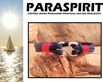 Nautical Bracelet / Rope / Beach / Surfer Paracord Bracelet with Anchor Clasp and Whipped Ends