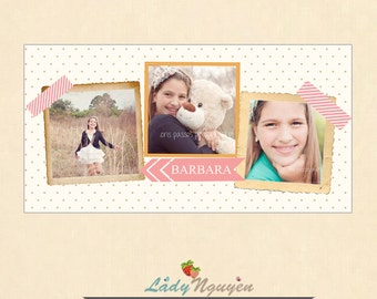 INSTANT DOWNLOAD 5x10 Collage & Blog Board, Storyboard Photoshop templates - BL066