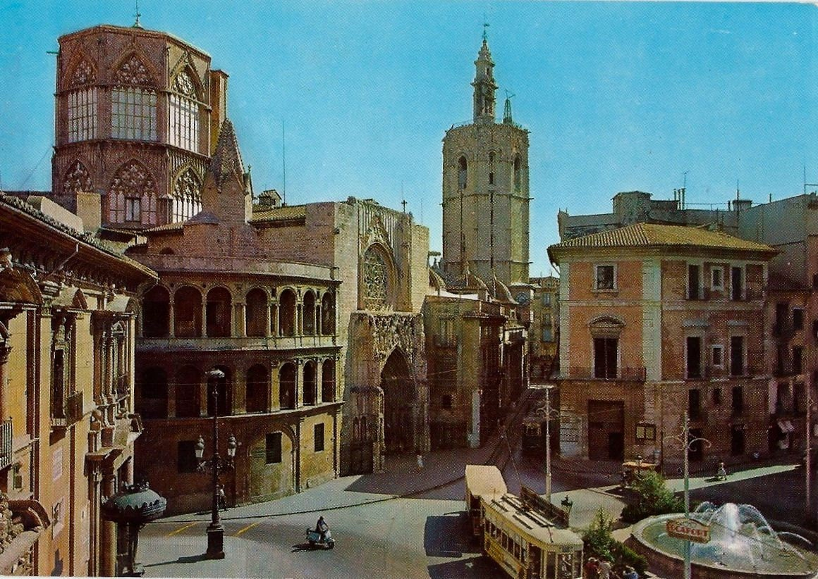 vintage valencia postcard spain 1969 c11 from