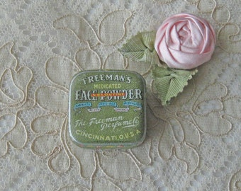 Adorable Antique Sample Tin of Freeman's Face Powder