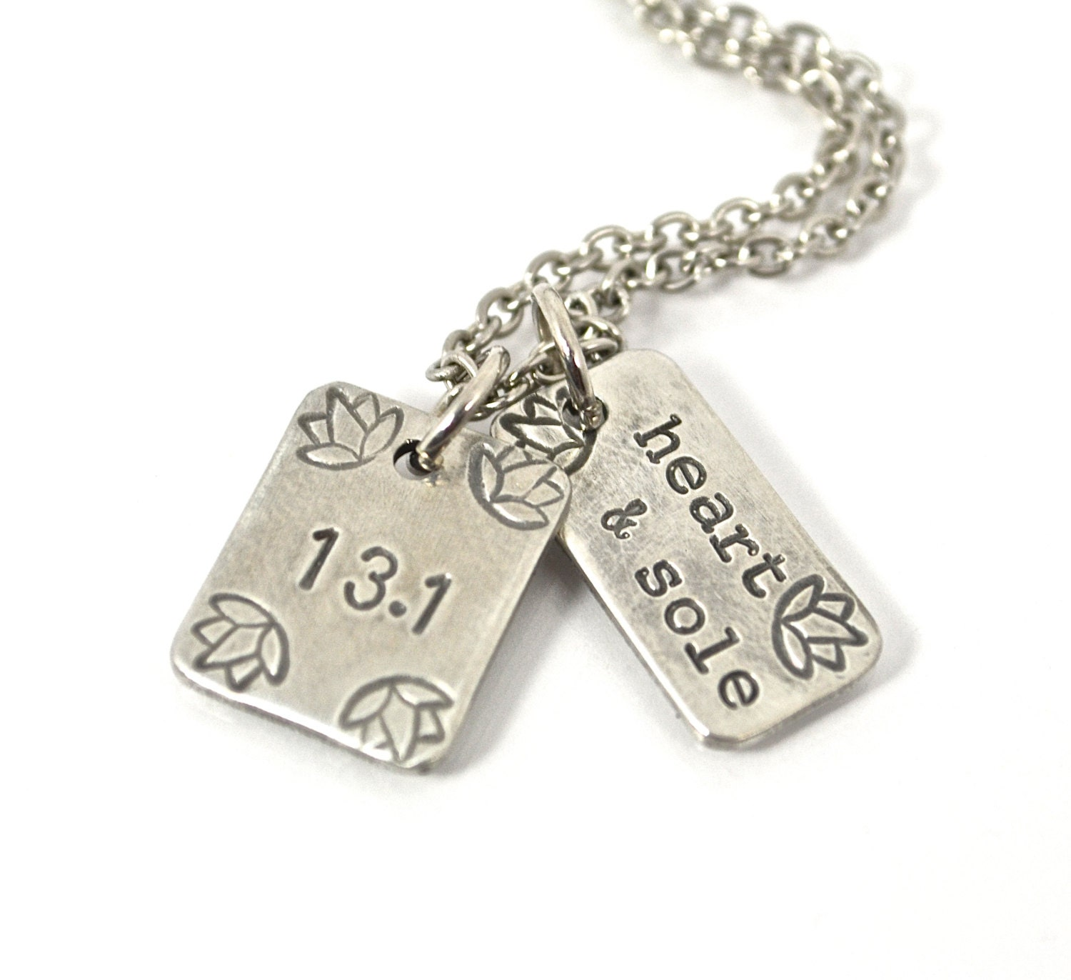 half marathon jewelry running charm necklace with 13 1 charm