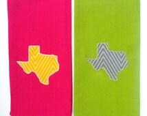 State Texas Applique Kitchen Towel, Dish Towel, Tea Towel, Hand Towel, Handmade Towel Housewarming Gift