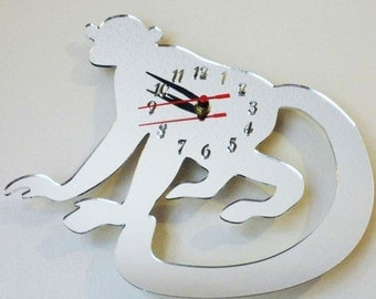 Monkey Clock Mirror - 2 Sizes Available