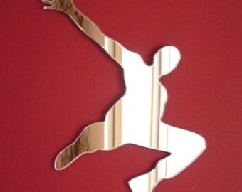Parkour 'Free Running' Shaped Mirrors - 5 Sizes Available