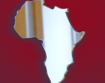 Africa Shaped Map Mirror - 5 Sizes Available.