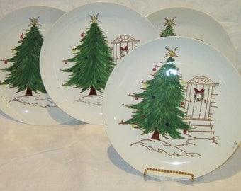 Vintage Blue Ridge Christmas Plates