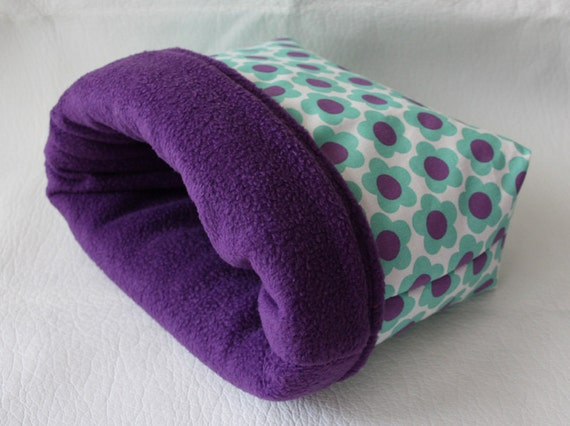 cuddle sack / sleeping bag XXL flowers for guinea by Kuschelkram