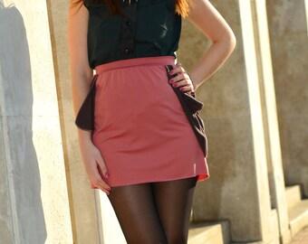 Mini skirt salmon dark chocolate brown SALE!