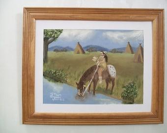 framed art print of an Indian princess