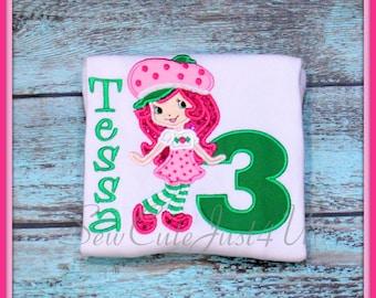 Strawberry Shortcake Birthday Number Shirt