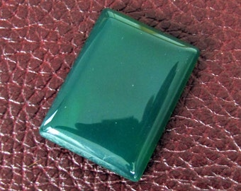 loose gemstone rectangle shaped green agate cabochon 45.2 ct (AG87)