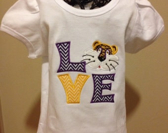 LSU Tigers Love T shirt