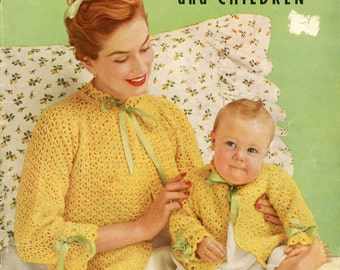 Vintage knitting and crochet patterns - babies and children