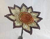 Bronze beaded Sunflower