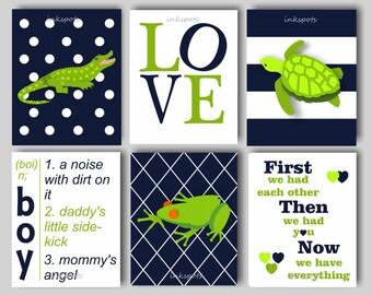 Baby Boy Nursery Art Alligator Nursery Bedding Decor Boys Room Alligator Wall Art LOVE Nursery Print Alligator Prints Choose Colors