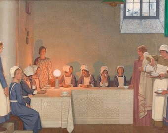 "Frederick Cayley Robinson : ""Acts of Mercy - Orphans I"" (1915) - Giclee Fine Art Print"