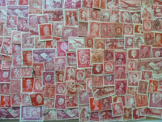Crafts with Used Postage Stamps