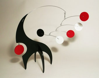 Modern Art Sculpture Mobile Stabile Table Top Abstract Kinetic Decor Lil Swinger Small