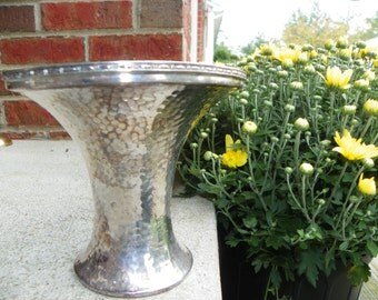 Vintage Antique Pairpoint Silver Company Silver Over Copper Hammered Vase
