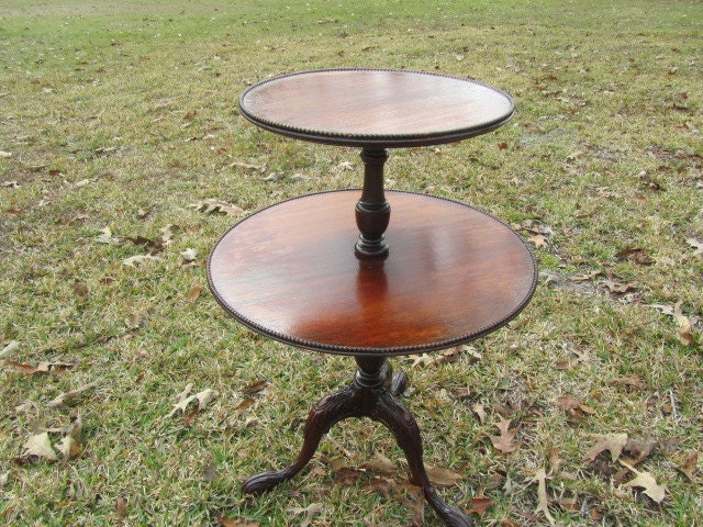 Antique End Tables Images: Vintage Side Table End Tabletable.furniture Two Tier Round
