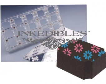 Inkedibles Standard Size (11 inch x 5 inch) Magnetic Chocolate Mold (design 530-001, for use with transfer sheets)