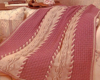 Knit Afghan Patterns Worsted Weight : CROCHET AFGHAN Pattern Lacy Chevron Worsted by KenyonBooks