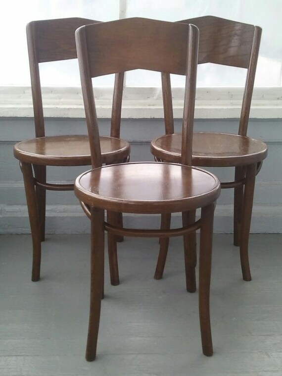 Three Antique Bentwood Chairs