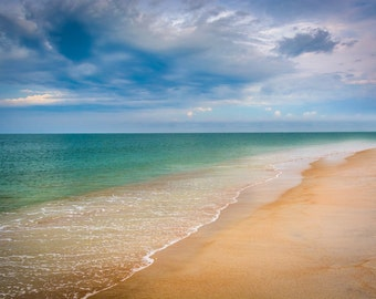 The Atlantic Ocean in Vilano Beach, Florida - Beach Photography Fine Art Print or Wrapped Canvas