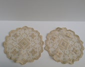 Pair of 9in Vintage doilies
