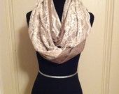 Suits and Lace Infinity Scarf