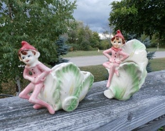 Vintage, Made in Japan, Pixie/Elf, Planters