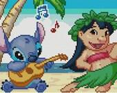 Music and Dancing Cross Stitch Pattern-Lilo and Stitch