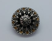 NOOSA Style Champagne Rhinestone Noosa Style Chunk Popper Button