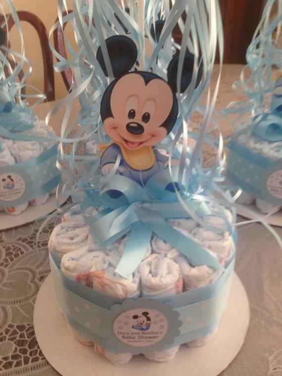 Centro de Mesa de Pañal Baby Mickey Mouse por designsbyemilys