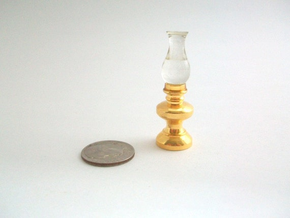 Miniature Oil Lamp, Dollhouse Oil Lamp, Miniature Lamp, Dollhouse Lamp ...