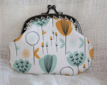 Blue and Yellow Flowers Coin Purse
