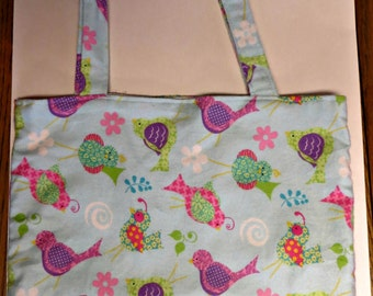Soft flannel tote bag