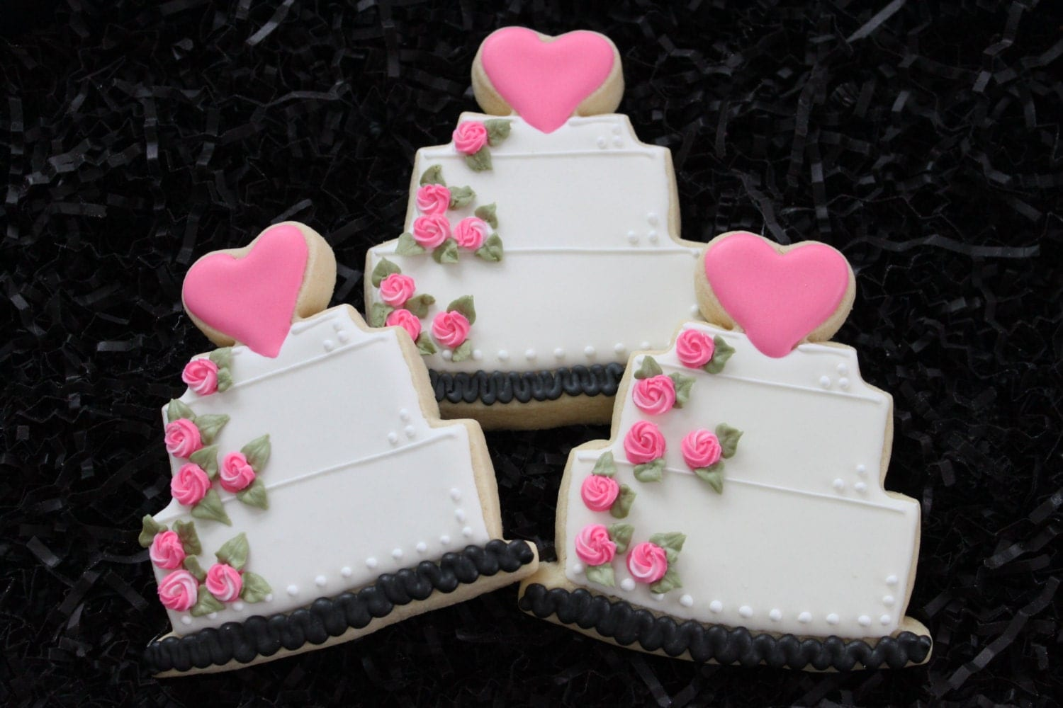 wedding cake cookies for bridal shower wedding cookie favors wedding cake bridal shower favors 22244