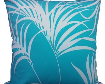 aqua palm cushion