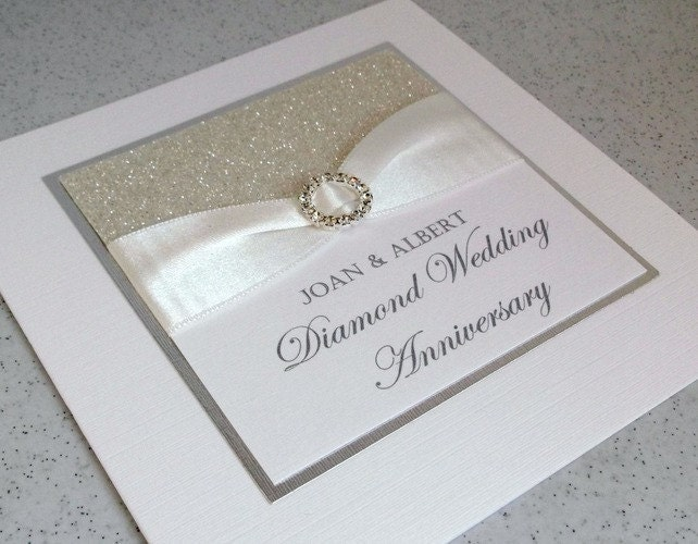 60th Wedding Anniversary Gifts For Parents: Diamond Wedding Anniversary Card Modern Designer