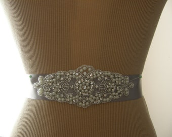 SALE / Wedding Belt, Bridal Belt, Bridesmaid Belt, Sash Belt, Wedding Sash, Bridal Sash, Belt, Crystal Rhinestone & Pearl