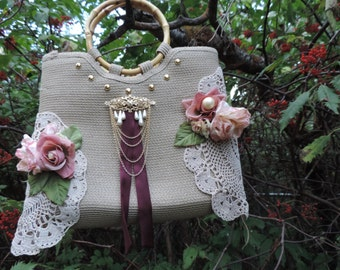 Upcycled Purse Simply Mary Hobo Hippy Boho Gypsy Purse