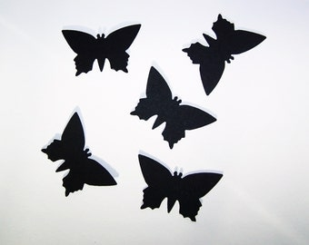 """Black Butterfly die cuts /  25 pc., 50 pc., 100pc./ card-stock paper/ size 1 3/4 x 1"""""""